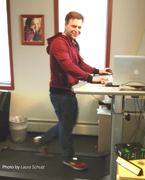 Ghost Productions uses treadmill desks